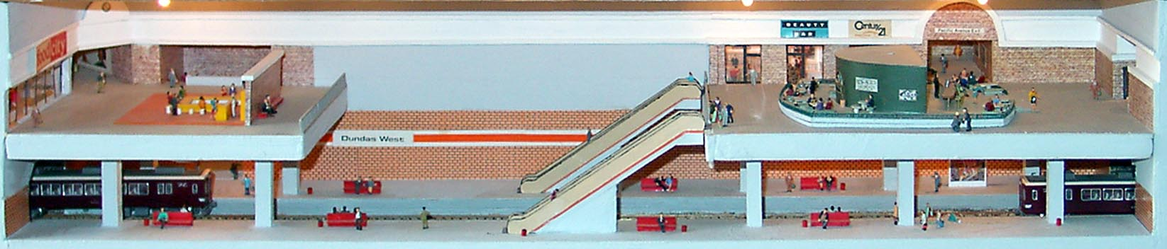 model of a subway station by Branden Gates Studios